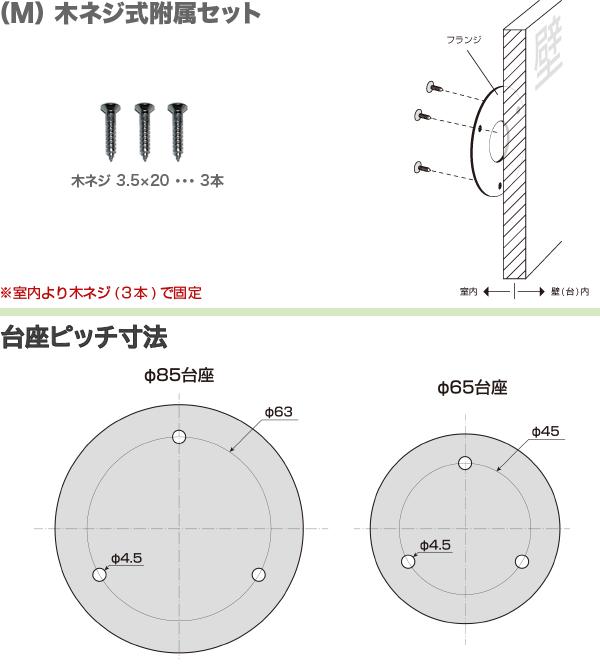 (M) 木ネジ式附属セット